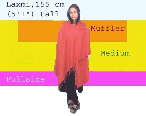 Pashmina size chart. From Shopping for Pashmina in Kathmandu: A Complete Guide