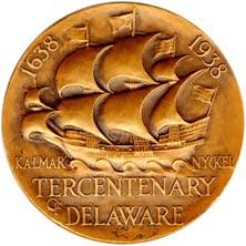 Delaware Tercentenary Medal