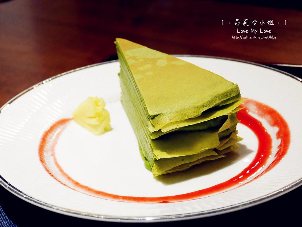 台北台電大樓站平安京茶事下午茶抹茶千層蛋糕 (2)