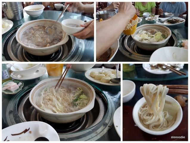 mushroom soup noodles