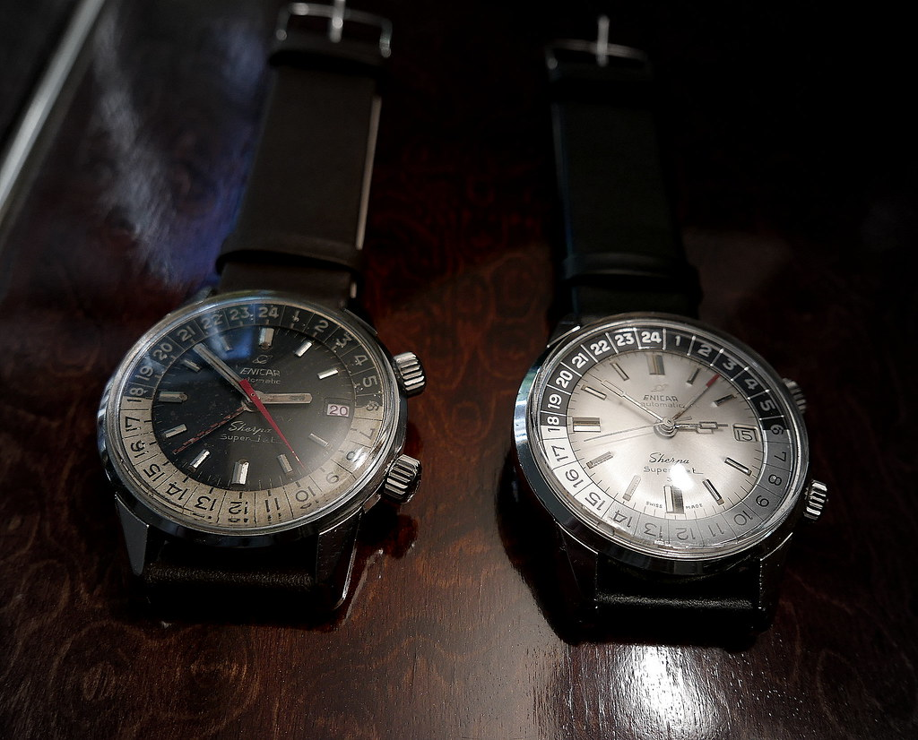 Glossy dial on Enicar Super Jet?