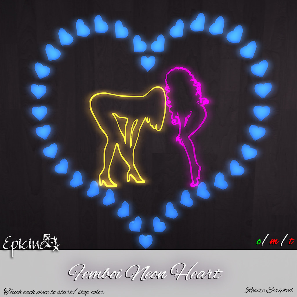 Epicine - Femboi Neon Heart - TeleportHub.com Live!