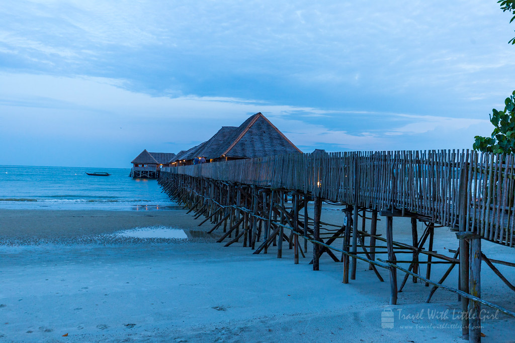 After the sunset at Telunas Beach Resort
