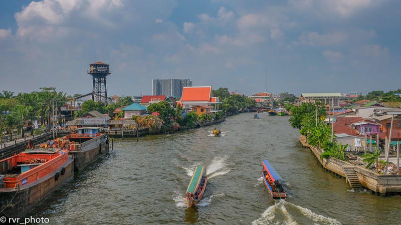 Canales de Bangkok al río Chao Phraya