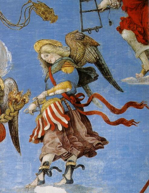 Filippino_lippi,_cappella_carafa,_assunzione,_angelo