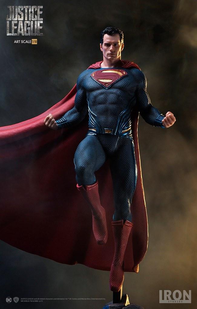世人最耀眼的明燈!! Iron Studios《正義聯盟》超人 Justice League Superman 1/10 比例全身雕像作品