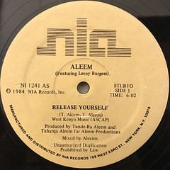 ALEEM:RELEASE YOURSELF(LABEL SIDE-A)