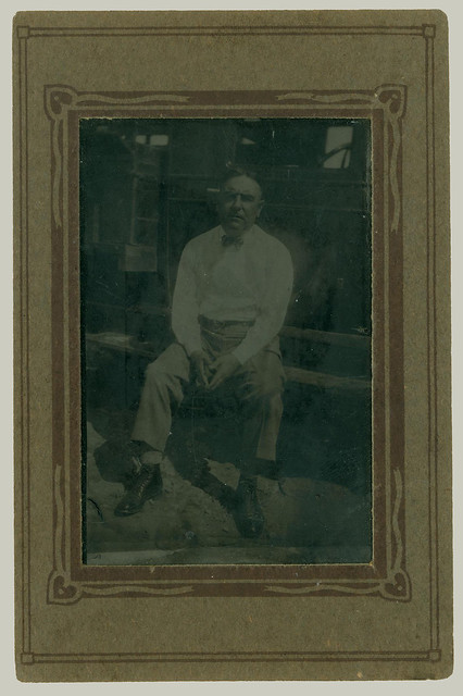 Tintype seated man