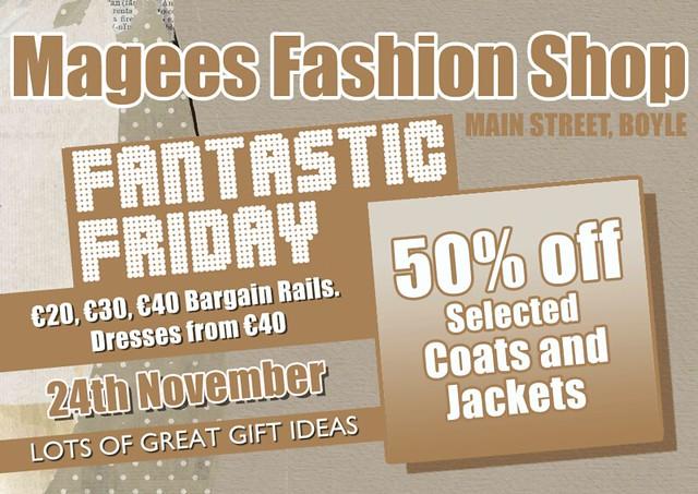 Magees Fashion Shop advert_November_2017