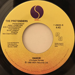 THE PRETENDERS:DON'T GET ME WRONG(LABEL SIDE-B)
