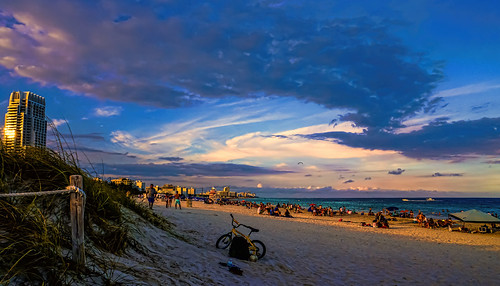 afternoon sunset colors southbeach southpoint people perspective seashore seascape sea miamibeach beachscape beach beachshore blue clouds sky outdoors urbanexploration unitedstates walkingaround waterways walking