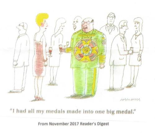 One Big Medal cartoon