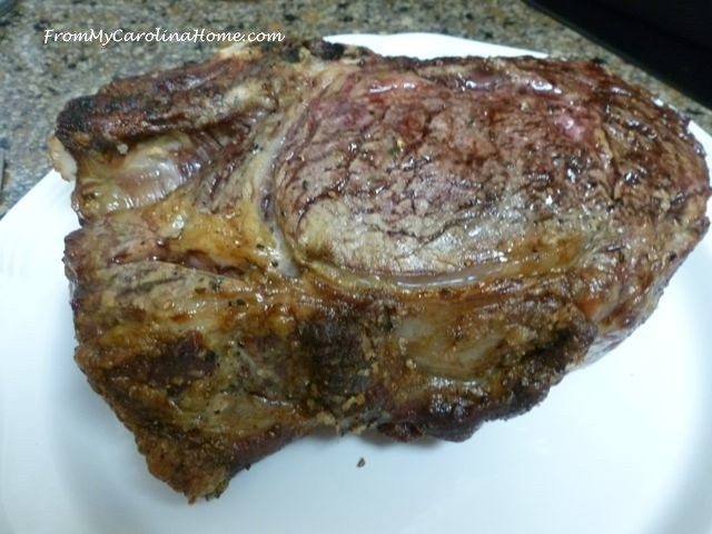 Holiday Dinner Standing Rib Roast at From My Carolina Home