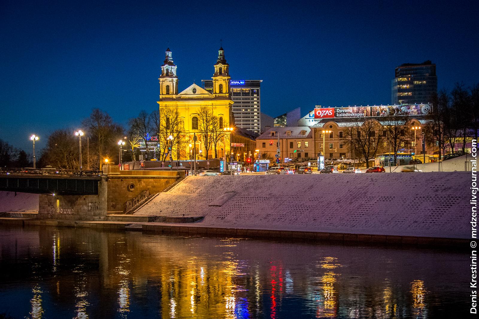 Вильнюс. Шнипишкес. Костел Святого Рафаила.
