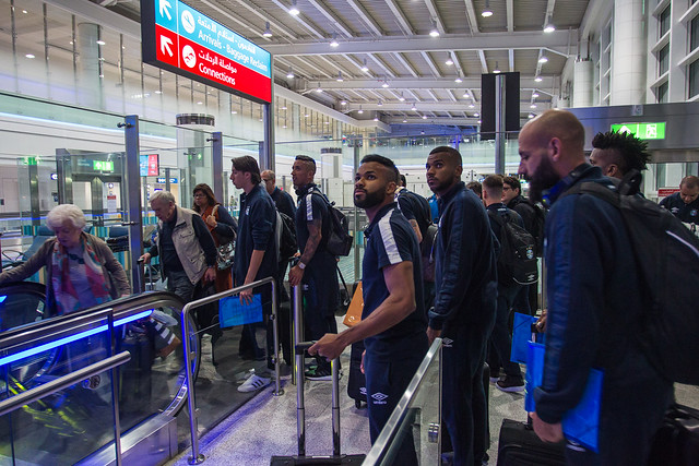 Desembarque Grêmio nos Emirados Árabes
