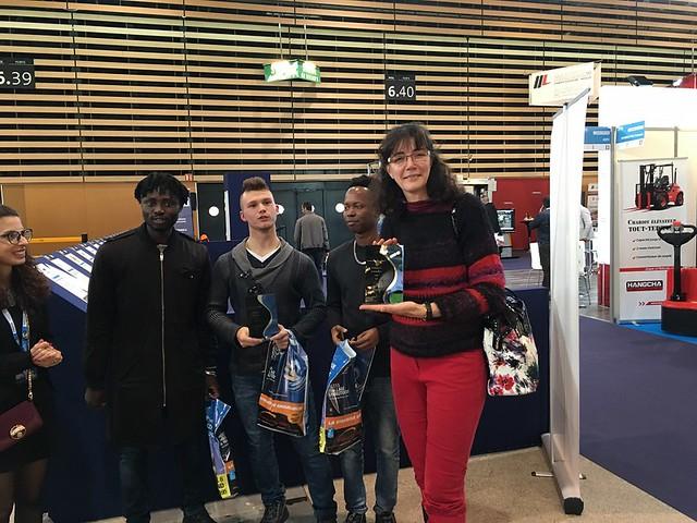 2 élèves du lycée François Cevert ont remporté le concours du salon Europack Euromamut