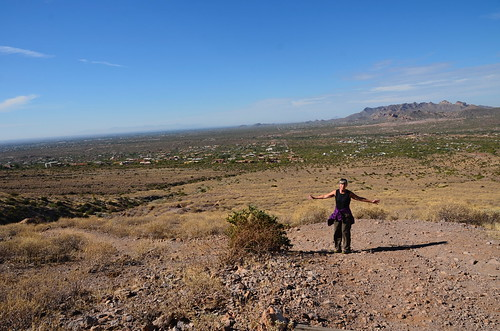 Lost Dutchman Linda on the Prospector View trail