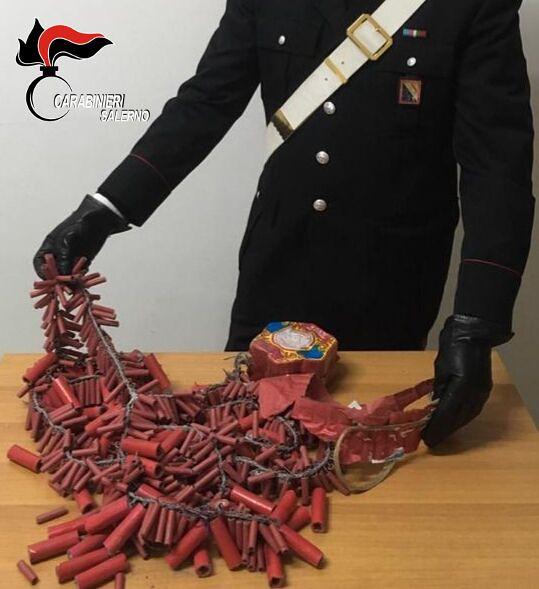 Artifizi pirotecnici carabinieri sala