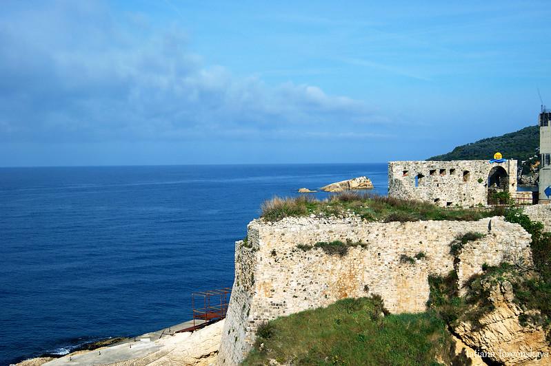 Вид на фрагмент крепостных стен