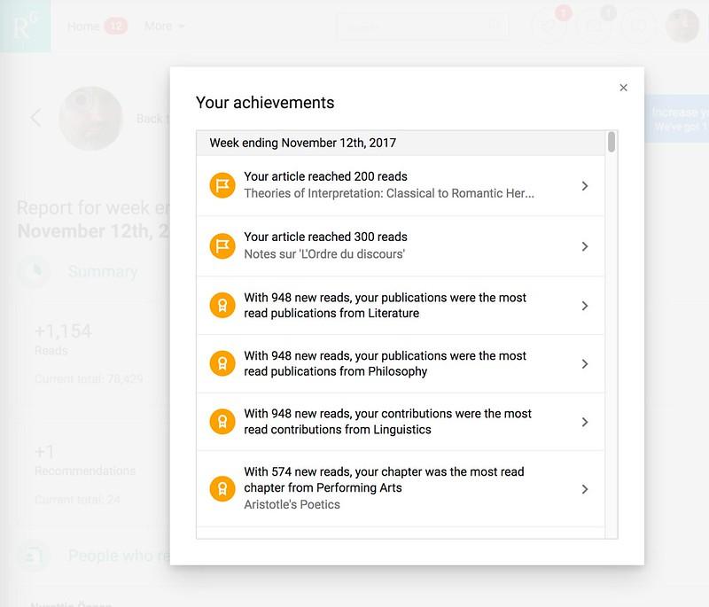 Your Achievements