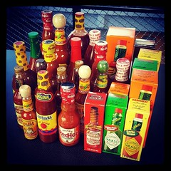 How's your morning going? I just took photos of 30 different bottles of hot sauce. :fire::fire::fire: