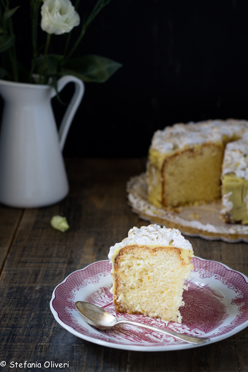 chiffon cake con crema all'arancia e meringa-8211