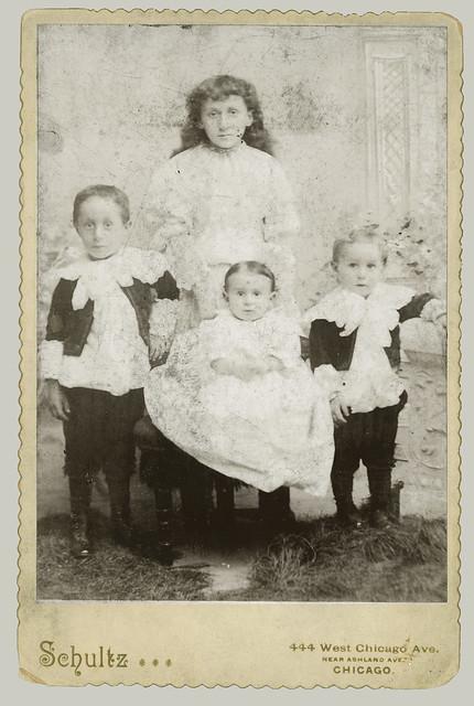 Cabinet Card four children