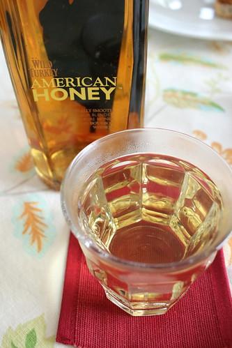 ハニーウイスキーとアメリカンアペタイザー