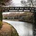 Throstle Nest Bridge, over the frozen Bridgewater Canal, Old Trafford