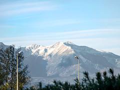 Les premières neiges sur le massif du Canigou (Pyrénées-Orientales)