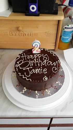 Jamie's second birthday cake