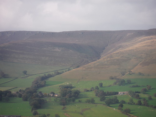 Ollersbrook Clough and Ringing Roger, from The Great Ridge