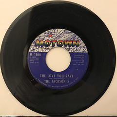 THE JACKSON 5:THE LOVE YOU SAVE(RECORD SIDE-A)