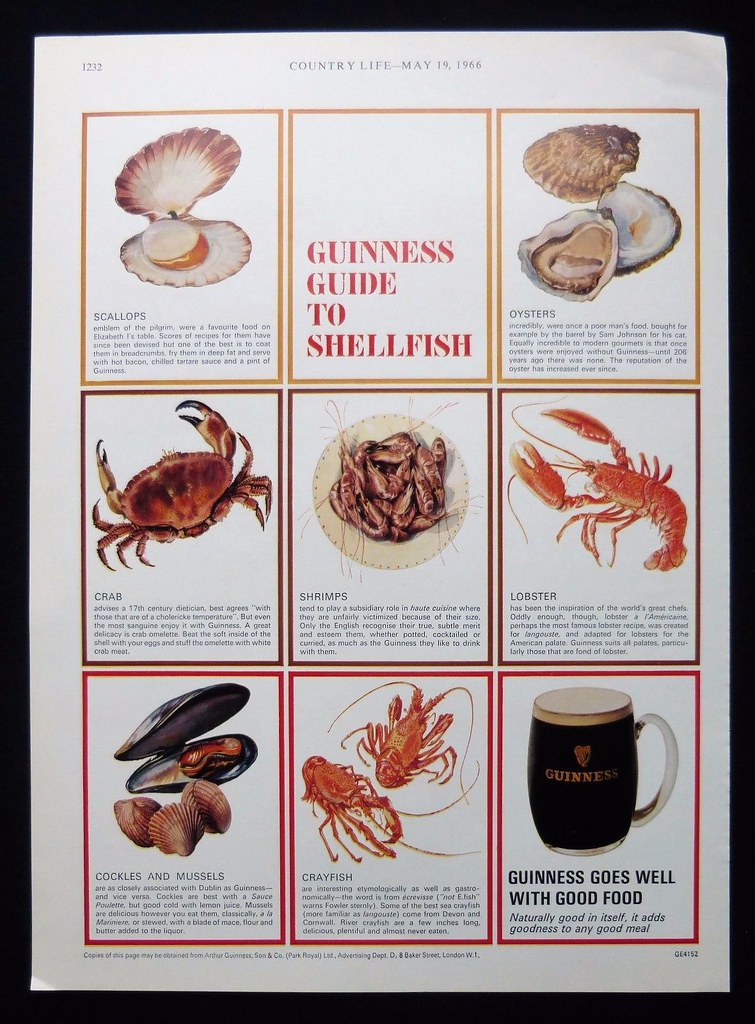 Guinness-1966-guide-to-shellfish