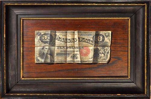 1880 $10 Legal Tender note painting