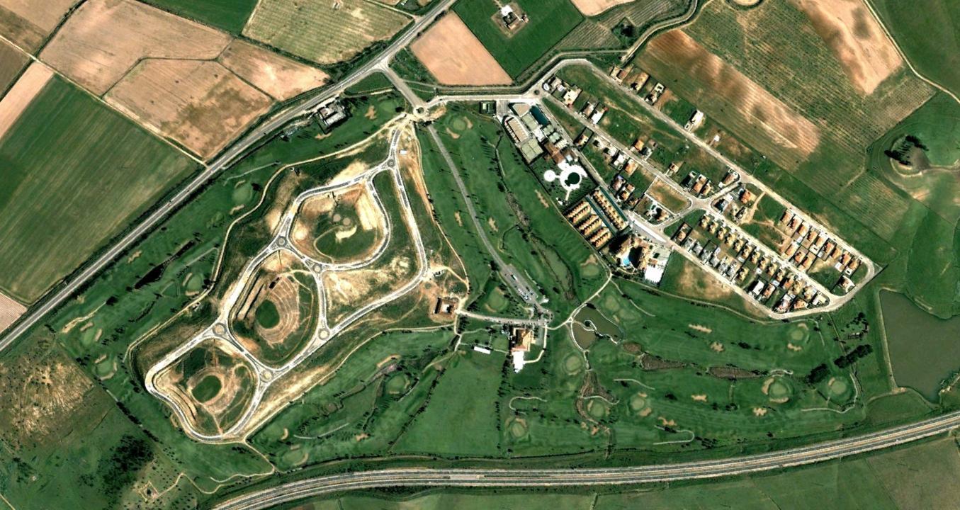 golf guadiana, badajoz, rotondas trifuerza, antes, urbanismo, planeamiento, urbano, desastre, urbanístico, construcción