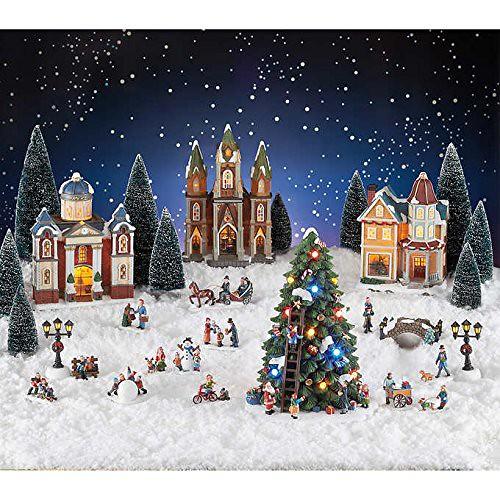 Christmas Village Scene Set
