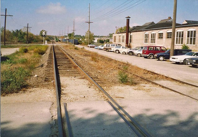 Tom Burke Photo St. Charles IL CGW-C&NW 12th Street Looking East October 1989
