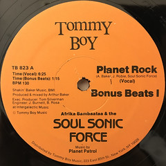 AFRIKA BAMBAATAA & THE SOUL SONIC FORCE:PLANET ROCK(LABEL SIDE-A)