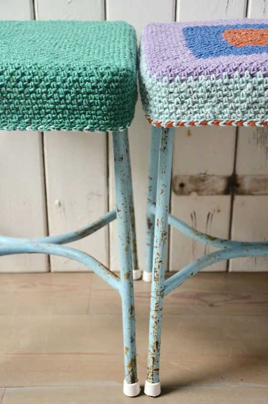 vintage woodwoolstool