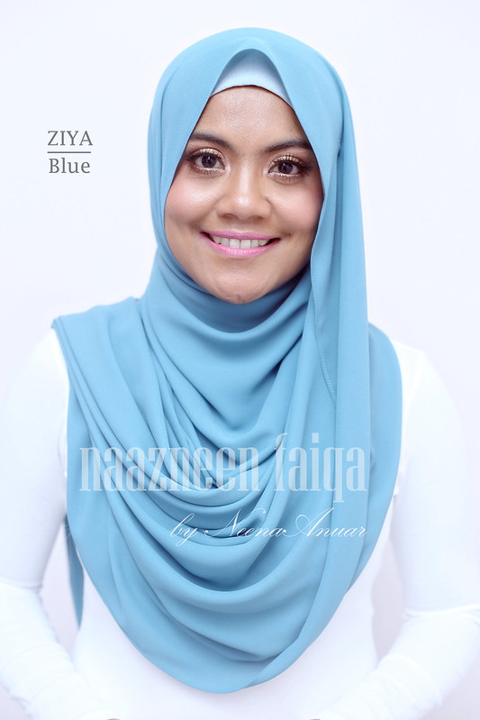 Wide Long Shawl - Ziya (Blue)