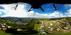 Above Na Pueo Park on Alewa Heights - an aerial 360° Equirectangular VR shot with my insta360 ONE camera attached to my Mavic Pro at 345 feet AGL (7K)