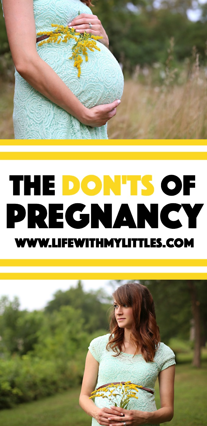 Not sure what's safe and what's not safe during pregnancy? Here's a helpful list of the don'ts of pregnancy. Learn what to avoid during pregnancy!