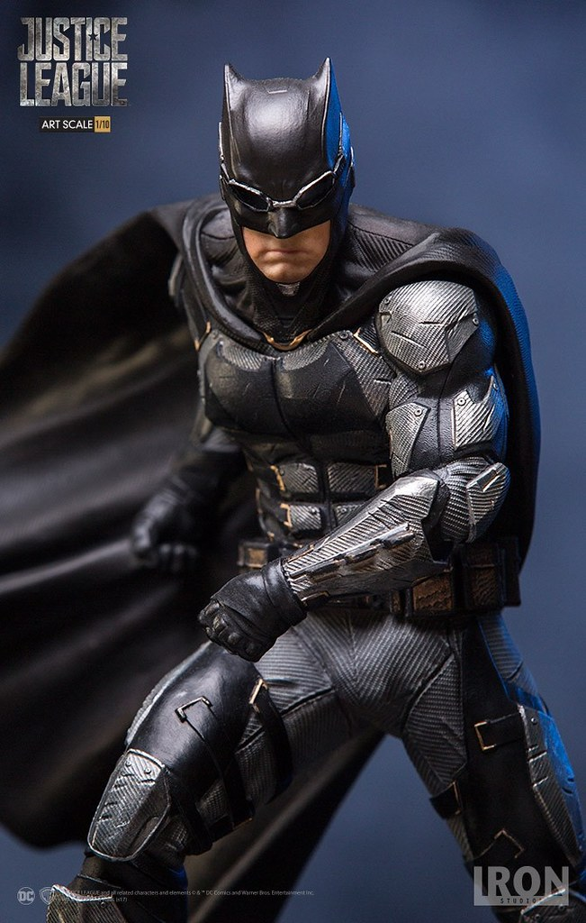 Iron Studios《正義聯盟》蝙蝠俠 戰術蝙蝠裝 Justice League Batman Tactical Suit 1/10 比例全身雕像作品