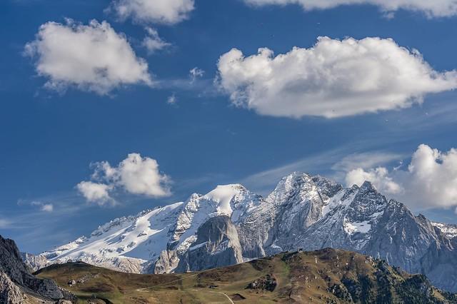*The sky over the Dolomites seems borderless*