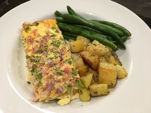 My own quiche with roasted yukon golds and poached green beans