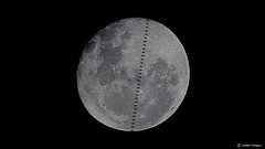International Space Station Moon transit time-lapse