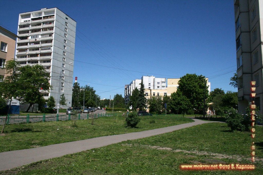 Город Зеленоград с фотоапаратом прогулки туристов