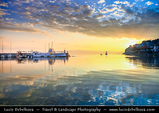 Macedonia (FYROM) - Ohrid - Old Town's Port - Marina with Boats at Sunset