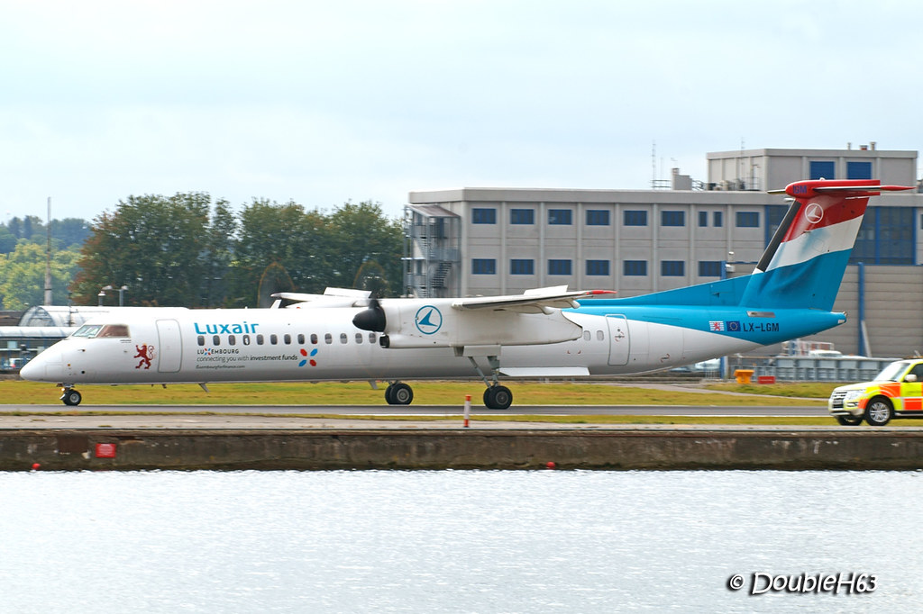LX-LGM Dash8 Q400 Luxair LCY